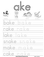 word family handwriting worksheets  images
