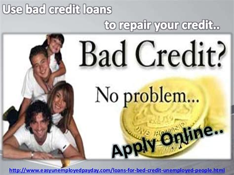Payday Loans For Bad Credit Unemployed People