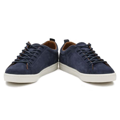 Lacoste Casual Navy lacoste mens navy blue straightset 317 trainers lace up