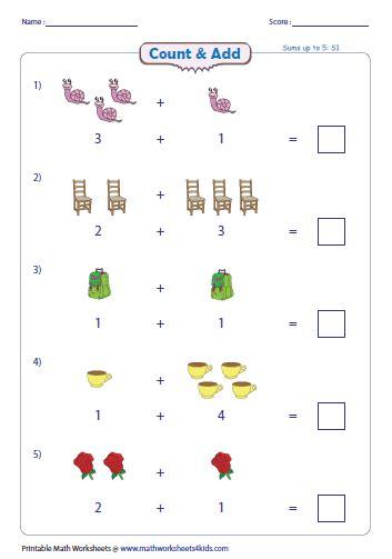 addition  pictures worksheets worksheets