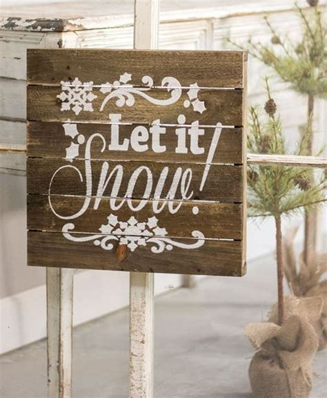 craft house designs wholesale   snow slatted wood sign