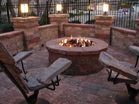 chairs around pit pit furniture stone2furniture outdoor furniture