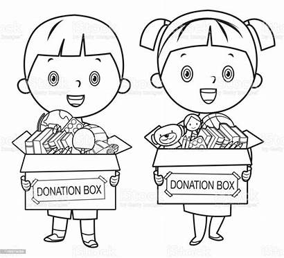 Toys Coloring Books Holding Donate Pencils Istock