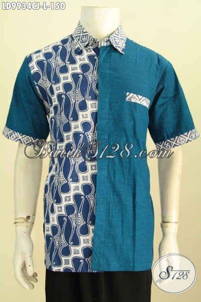 pilih pilih model baju batik pria kombinasi polos