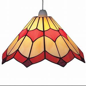 Tiffany bistro stained glass red ceiling light pendant cms