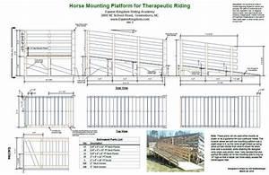 Therapeutic Horse Riding Mounting Platform & Ramp Plans