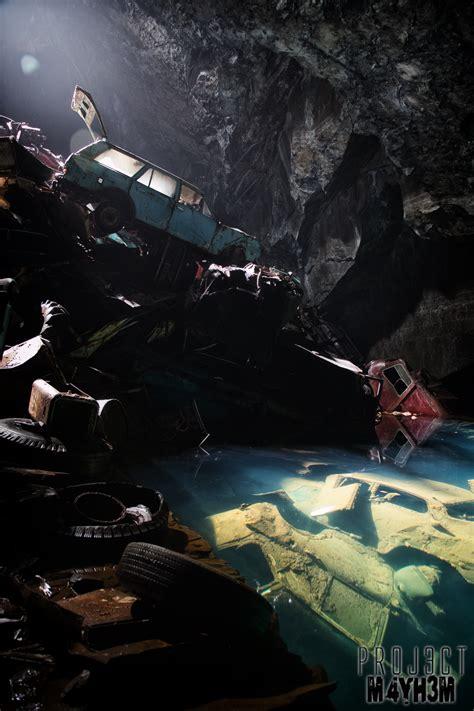 proj3ctm4yh3m exploration urbex the cavern of the lost souls aka the car graveyard mine