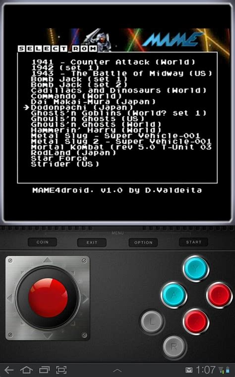 emulator roms android mame emulators for android play classic on smart