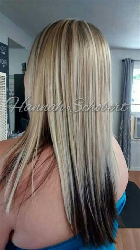 Hair With Brown Underneath Hairstyles by Cool Bright Heavy Highlights With Underneath