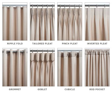 drapery styles the 8 most common types of drapery windows curtains