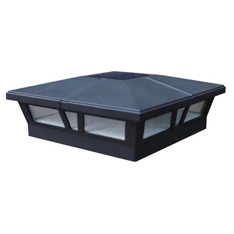 solar deck cap lights cambridge black integrated led solar post deck cap 6x6