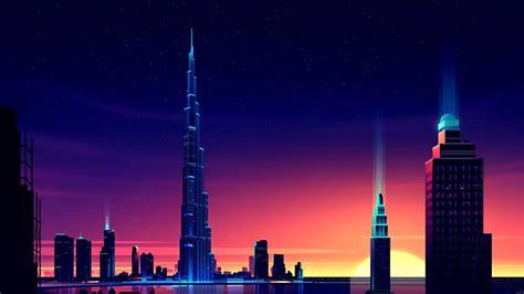 1920x1080 Dubai Burj Khalifa Minimalist Laptop Full Hd