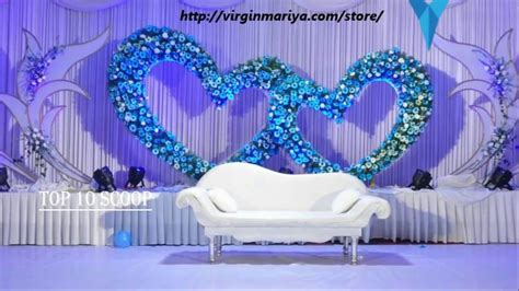 Top 10 wedding stage decoration ideas YouTube #