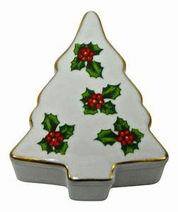 christmas tree holy porcelain trinket box chairish With kitchen cabinet trends 2018 combined with christmas tree shop wall art