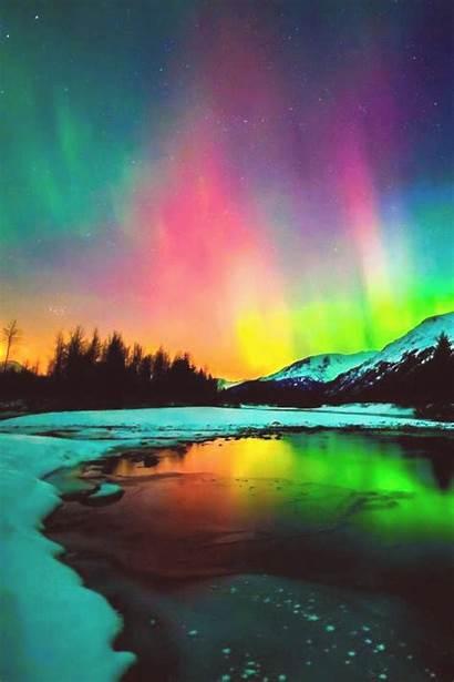 Aurora Nature Lights Northern Borealis Sky Poses