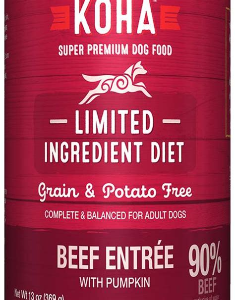Koha Limited Ingredient Beef Entree for Dogs 13oz - Molly's Healthy Pet Food Market