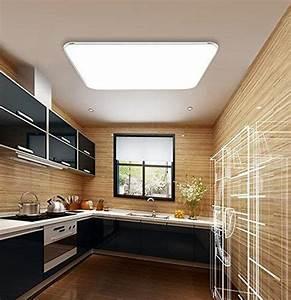 Schlafzimmer Lampe Modern : 24w kaltwei led modern deckenlampe ultraslim deckenleuchte schlafzimmer k che flur wohnzimmer ~ Watch28wear.com Haus und Dekorationen