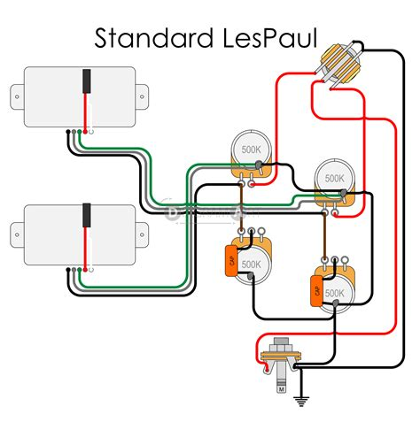 Le Paul Electric Guitar Wiring Schematic by Standard Les Paul Wiring Diagram Wiring Library