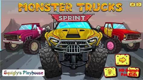 monster trucks video clips monster truck games videos monster truck sprint