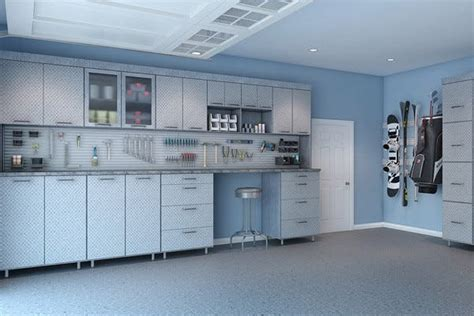 Mobile Garage Lighting by Garage Storage Cabinets Design And Install Closet Factory