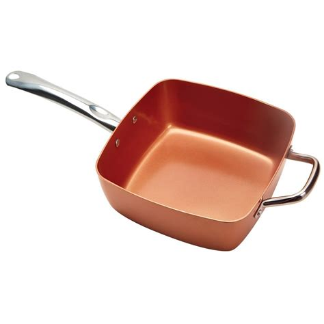 tristar products copper chef xl family sized square pan