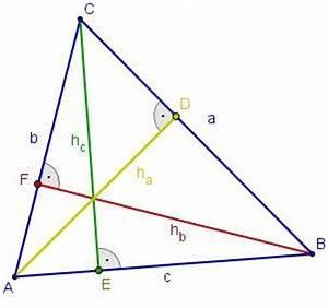 Höhe Eines Rechtwinkligen Dreiecks Berechnen : dreieck schnittpunkt der h he mit gegen berliegender ~ Themetempest.com Abrechnung