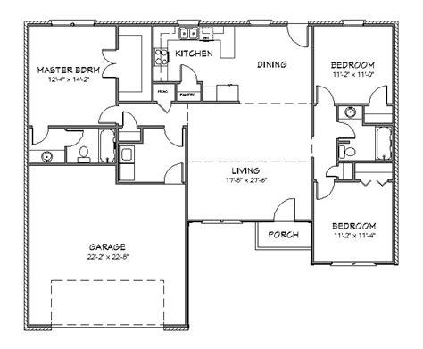house plan  split floor plan