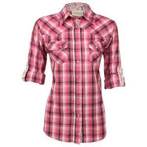 Long Sleeve Western Plaid Shirts for Women