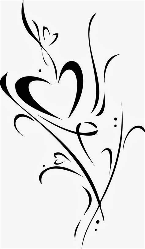 heart vine design tattoo stencils printable tattoos