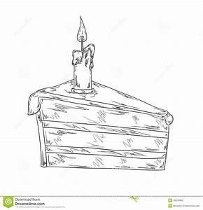 Piece of cake sketch stock illustration. Illustration of ...