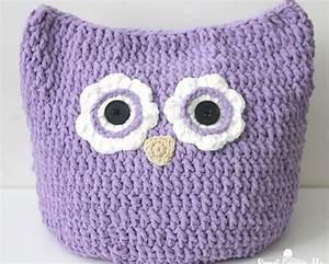 Oversized Crochet Owl Pillow