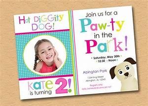 Items Similar To Hot Diggity Dog Theme Birthday Party Invitation On Etsy