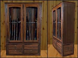 Casdon: Wood Gun Cabinet PDF Blueprints Download and How