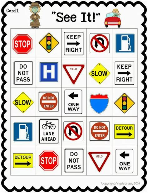 Road Trip Activities! A Fun Resource! Street Sign Bingo. Cushing's Syndrome Signs. Hemiplegic Migraine Signs Of Stroke. Number Signs. Radiator Signs Of Stroke. Sea Turtle Signs. Eating Signs. Zodiac Sign In Love Signs. Bakery Signs
