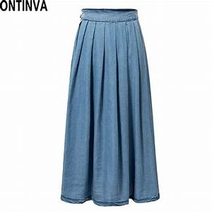 Popular Blue Jean Skirts Long-Buy Cheap Blue Jean Skirts Long lots from China Blue Jean Skirts ...
