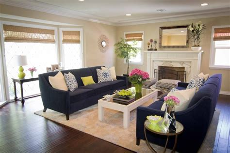 navy living room contemporary with lime green decorative pillows
