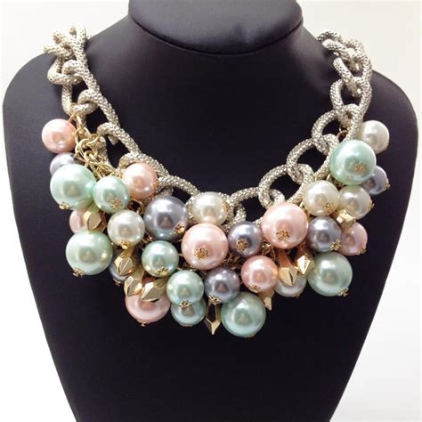newst design fashion pearl jewelry wholesale colours
