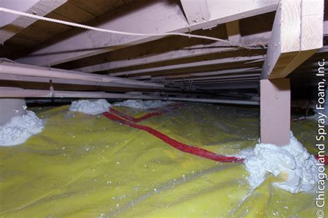 Spray Foam Insulation Crawl Space Dirt Floor crawl space encapsulation concrete drain tile