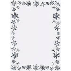printable christmas border writing paper a5 snowflake border card blanks and envelopes silver
