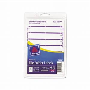 avery print or write file folder labels ave05204 With file label printer