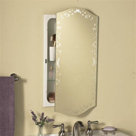 oval bathroom cabinet
