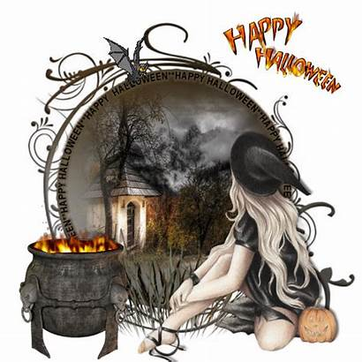 Halloween Witch Happy Gifs Greetings Sweet Ecrire