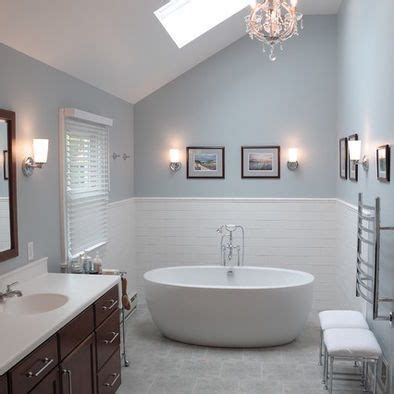 Modern Master Bathroom Colors by The Wall Color Is Krypton Sw6247 By Sherwin Williams By