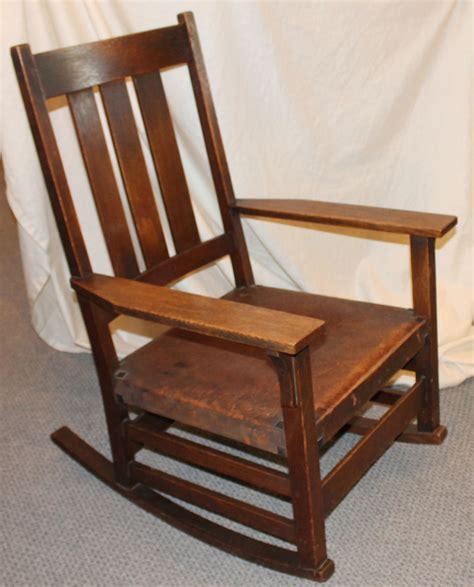 Stickley Oak Rocking Chair by Bargain S Antiques 187 Archive Gustav Stickley Oak