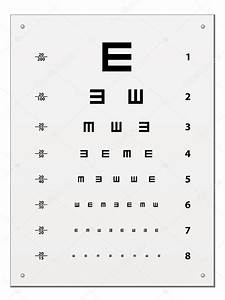 Snellen Eye Test Chart Vector Image By Happyroman