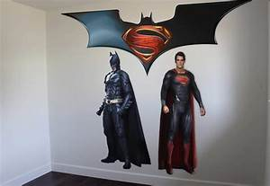 superman vs batman wall sticker on ey wall decals With superman wall decal