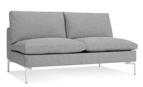 Armless Loveseat Settee by New Standard Armless Sofa Hivemodern
