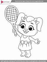 Coloring Tennis Printable sketch template