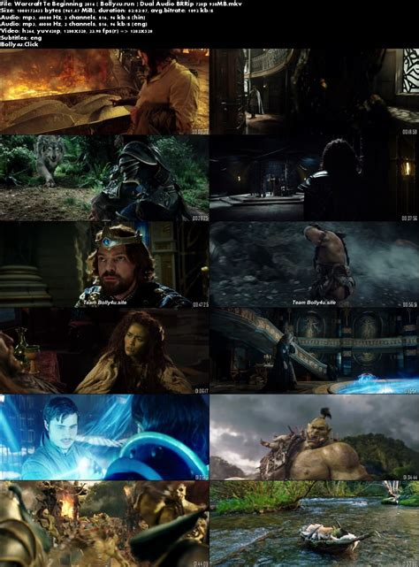 The peaceful realm of azeroth stands on the brink of war as its civilization faces a fearsome race of invaders: Warcraft The Beginning 2016 BluRay 950MB Hindi Dual Audio ORG 720p