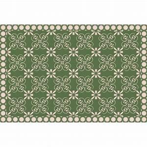Tapis Vinyl Carreaux De Ciment : tapis vinyle carreaux de ciment fleurs design from paris ~ Melissatoandfro.com Idées de Décoration